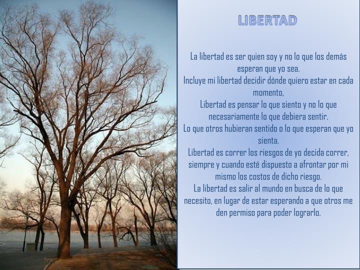 La libertad es ser quien soy