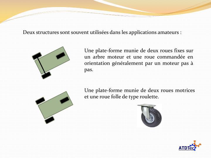 Deux structures sont souvent utilisées dans les applications amateurs :