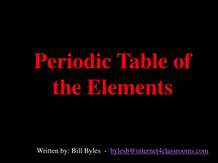 periodic table of the elements n.