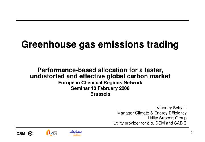 Greenhouse gas emissions trading