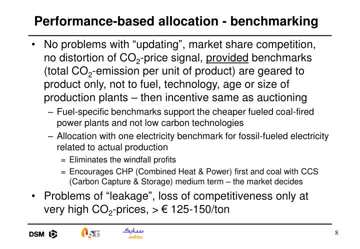 Performance-based allocation - benchmarking