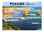 psaume 147 11