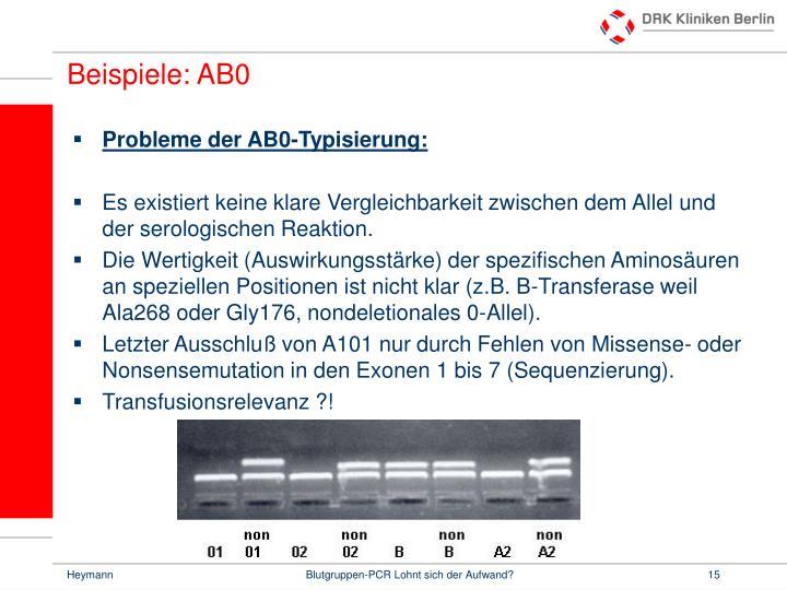Beispiele: AB0
