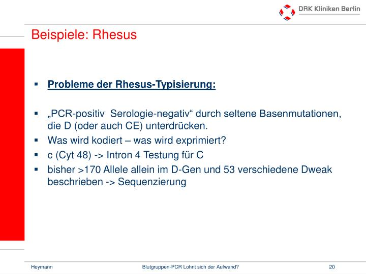 Beispiele: Rhesus