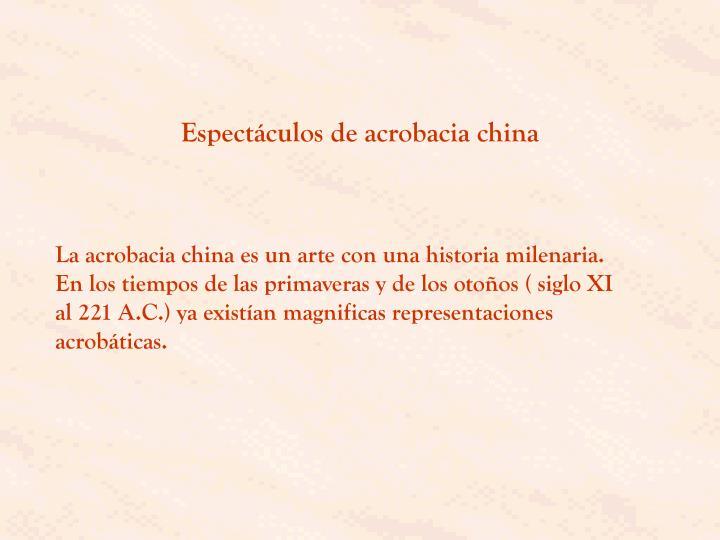 Espectáculos de acrobacia china