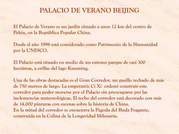 PALACIO DE VERANO BEIJING