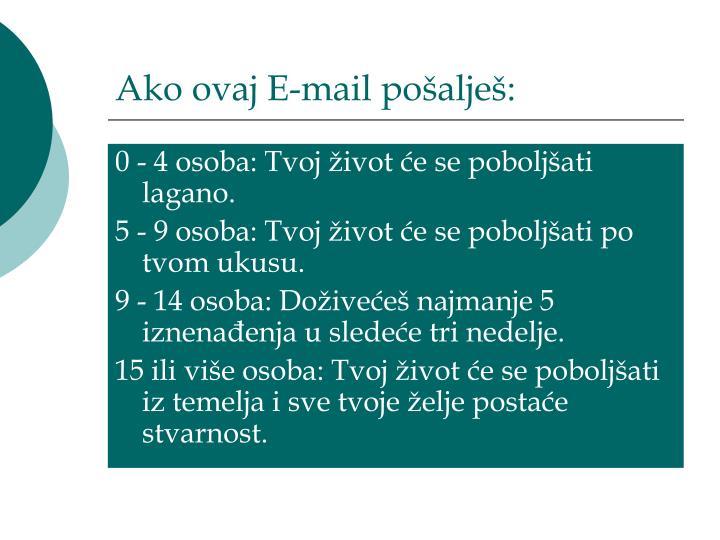 Ako ovaj E-mail po