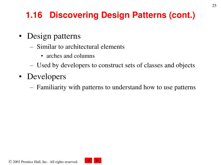 1.16   Discovering Design Patterns (cont.)