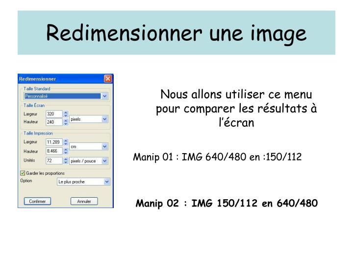 Redimensionner une image1