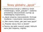 nowy globalny j zyk