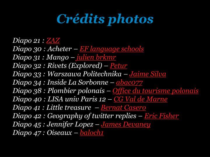 Crédits photos