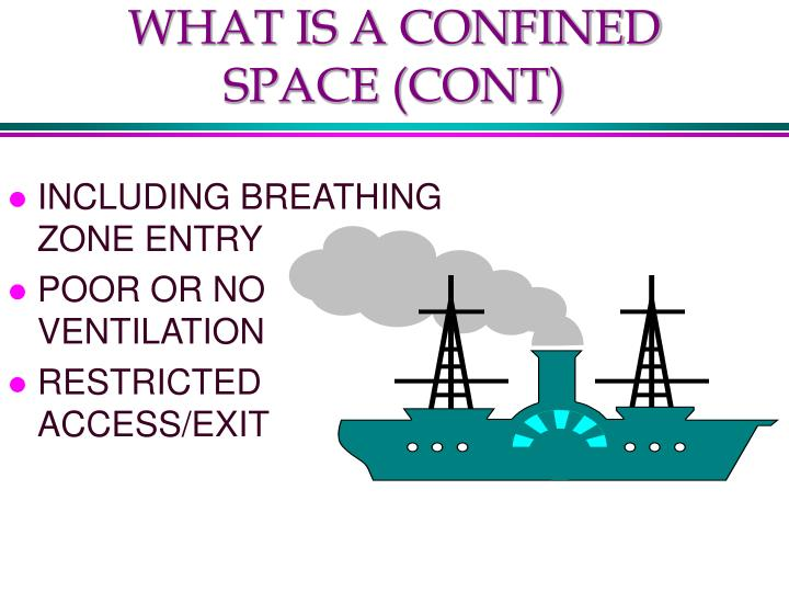 WHAT IS A CONFINED SPACE (CONT)
