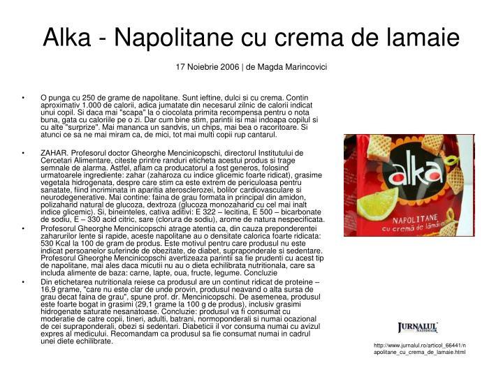 Alka - Napolitane cu crema de lamaie