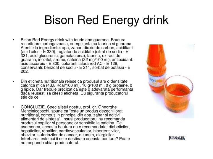 Bison red energy drink