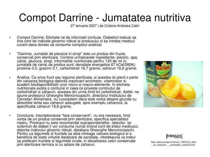 Compot Darrine - Jumatatea nutritiva