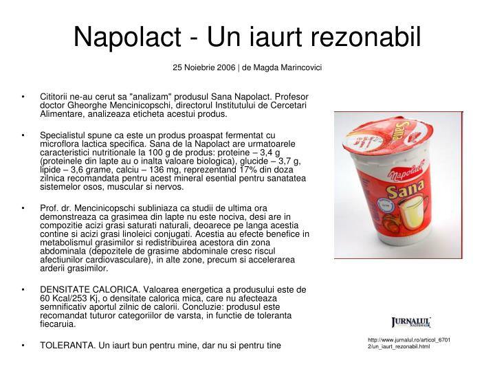 Napolact - Un iaurt rezonabil