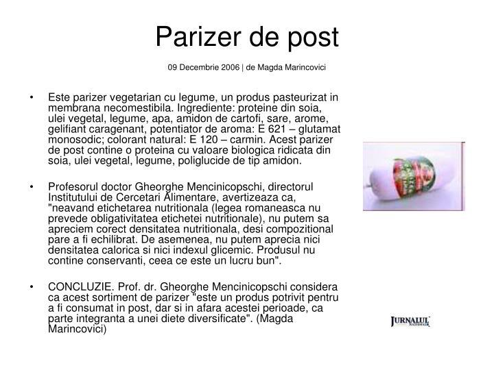 Parizer de post