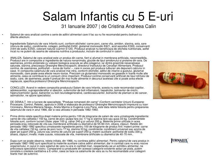 Salam Infantis cu 5 E-uri
