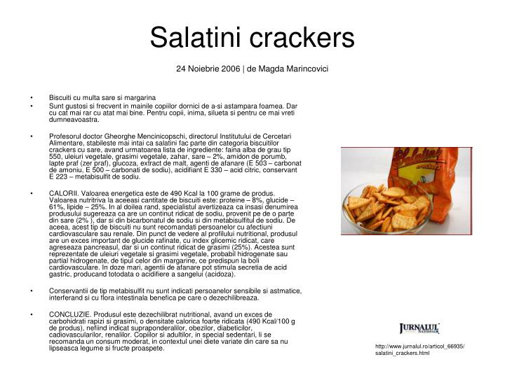 Salatini crackers