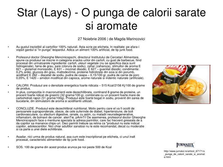 Star (Lays) - O punga de calorii sarate si aromate