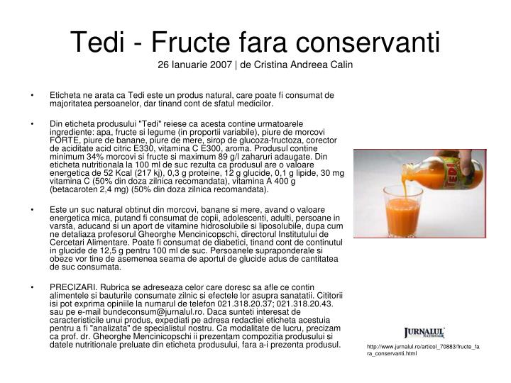 Tedi - Fructe fara conservanti