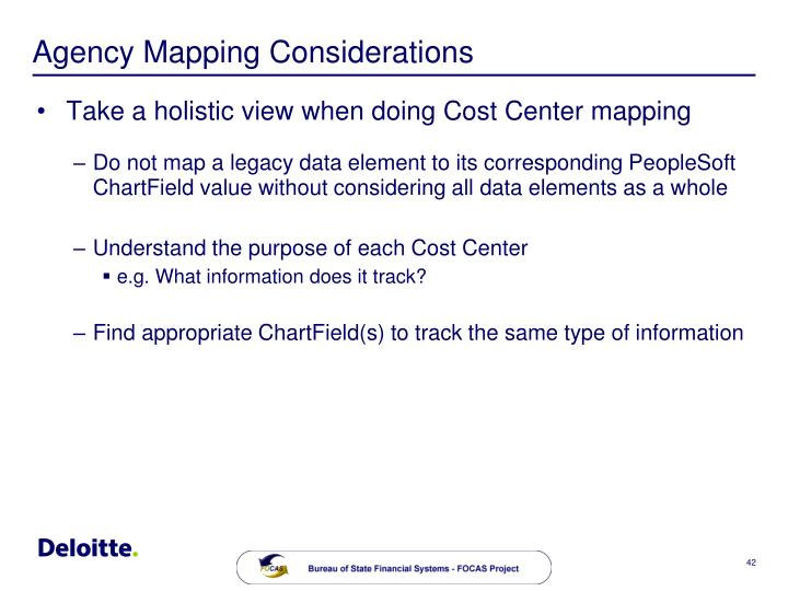 Agency Mapping Considerations