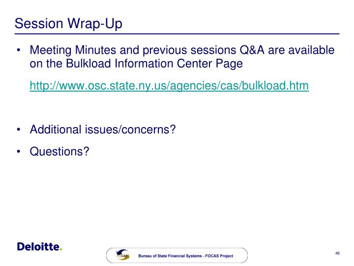 Session Wrap-Up