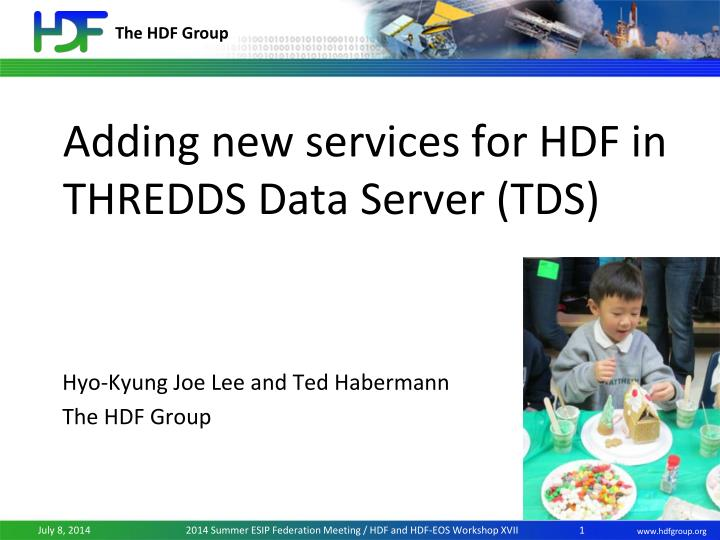 adding new services for hdf in thredds data server tds n.