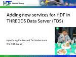adding new services for hdf in thredds data server tds