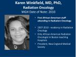 karen winkfield md phd radiation oncology mgh date of note 2010