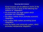 measuring social inclusion1