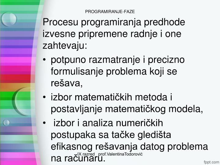 Programiranje faze1