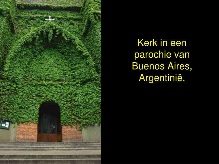 Kerk in een parochie van Buenos Aires, Argentinië.