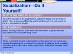 socialization do it yourself