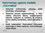 neformaliojo ugdymo modelis kidumatica5