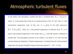 atmospheric turbulent fluxes