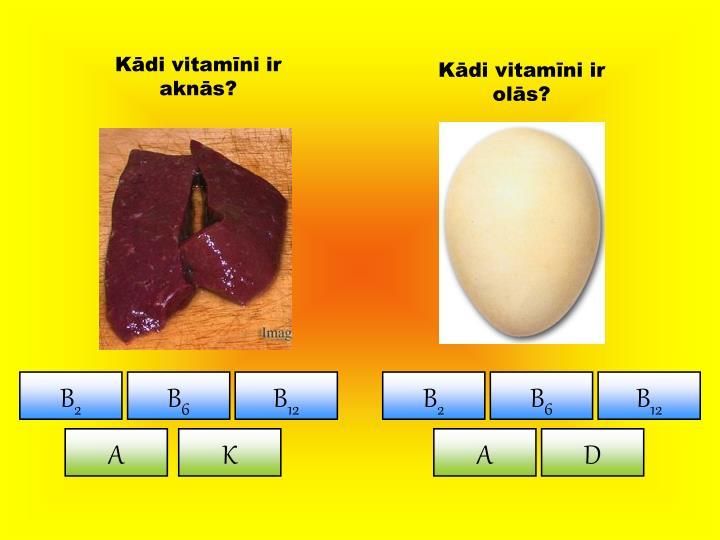 Kādi vitamīni ir aknās?