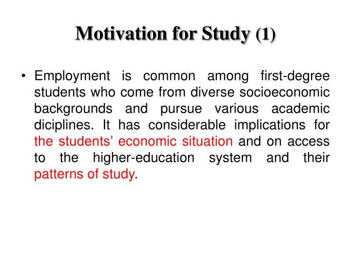 Motivation for Study