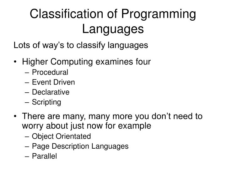 examples of event driven programming languages