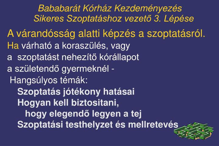 Bababarát Kórház Kezdeményezés