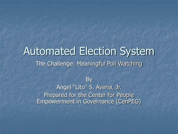 automated election system n.