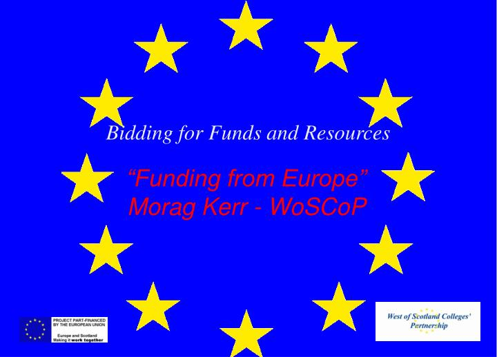 bidding for funds and resources n.