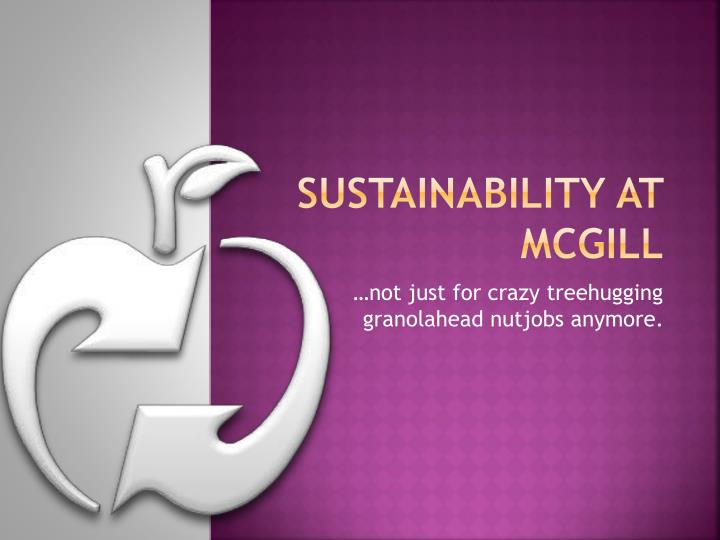 sustainability at mcgill n.