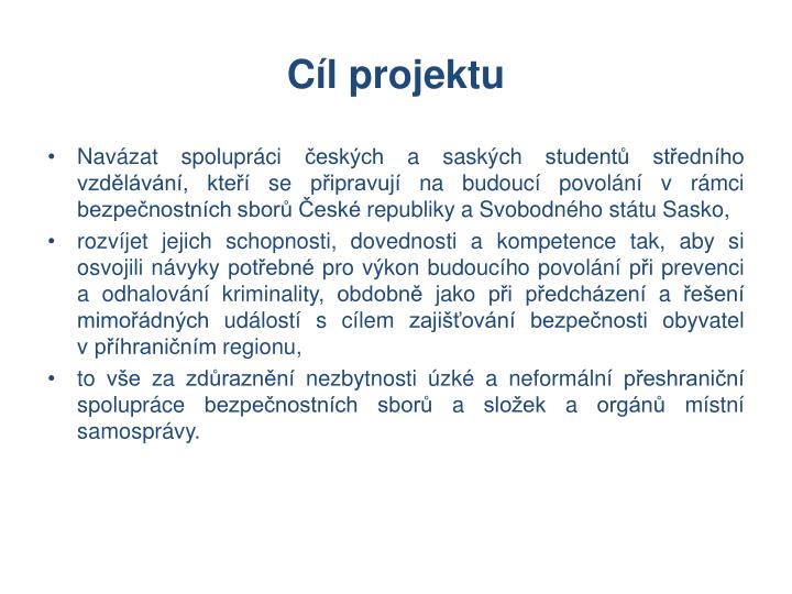 C l projektu