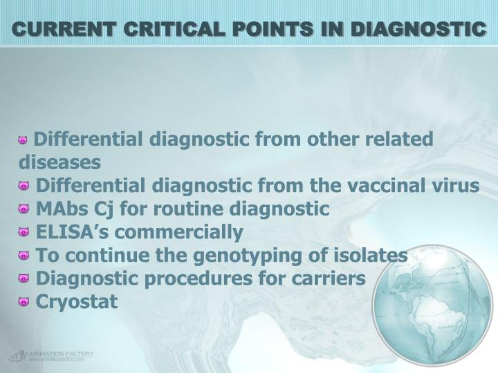 CURRENT CRITICAL POINTS IN DIAGNOSTIC