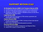 support within icao