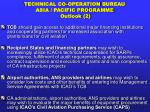 technical co operation bureau asia pacific programme outlook 2