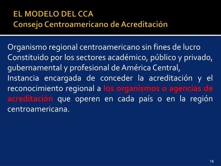 EL MODELO DEL CCA