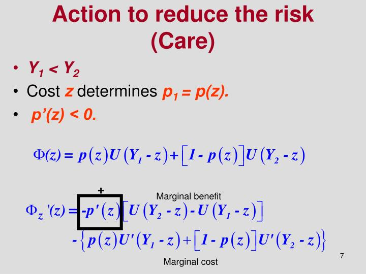 Action to reduce the risk (Care)