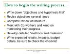 how to begin the writing process1
